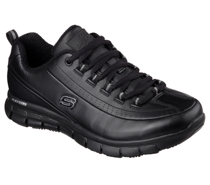 s skechers work shoes and boots with non slip outsole