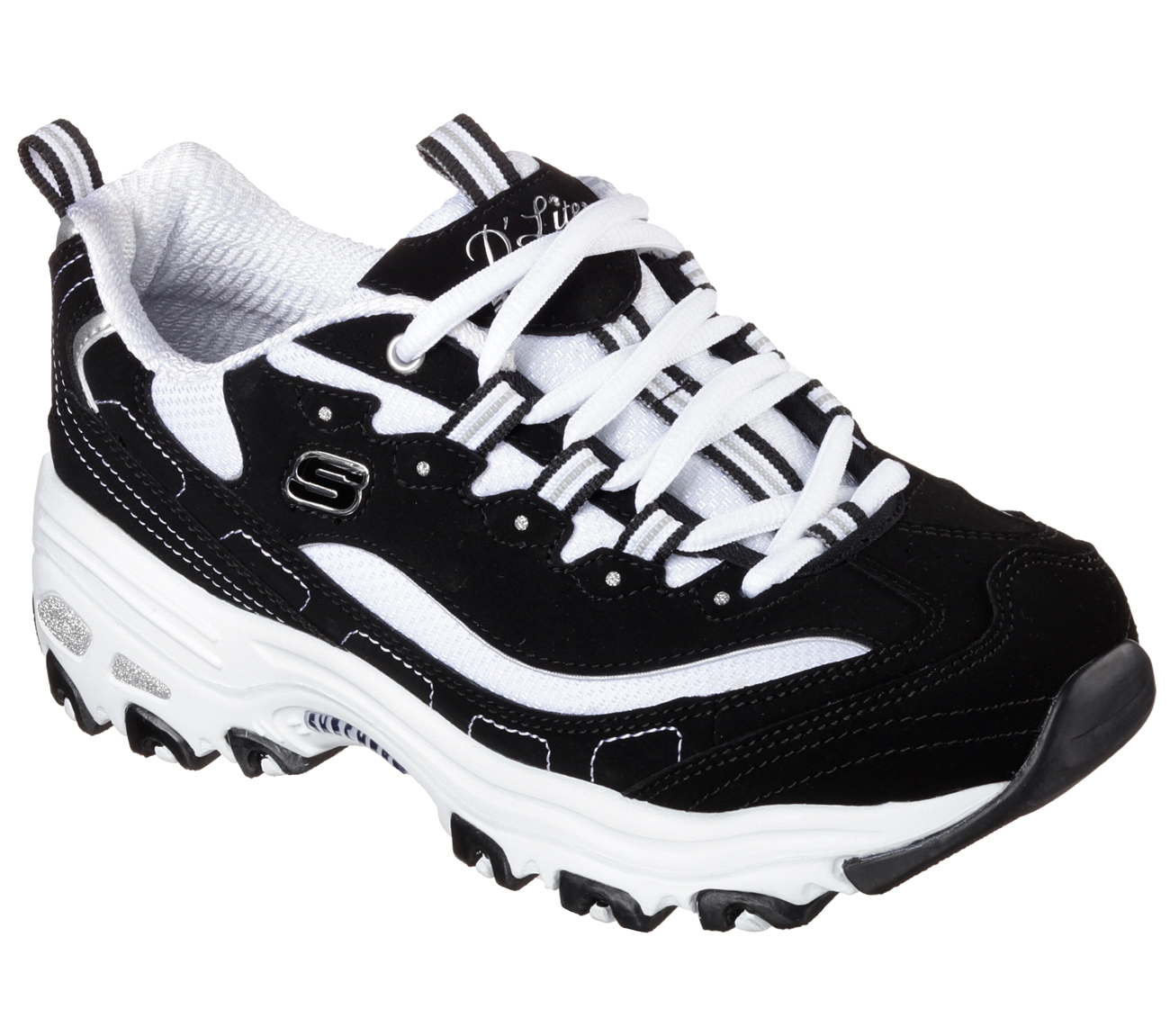 Sketchers Leather Upper Ladies Shoes