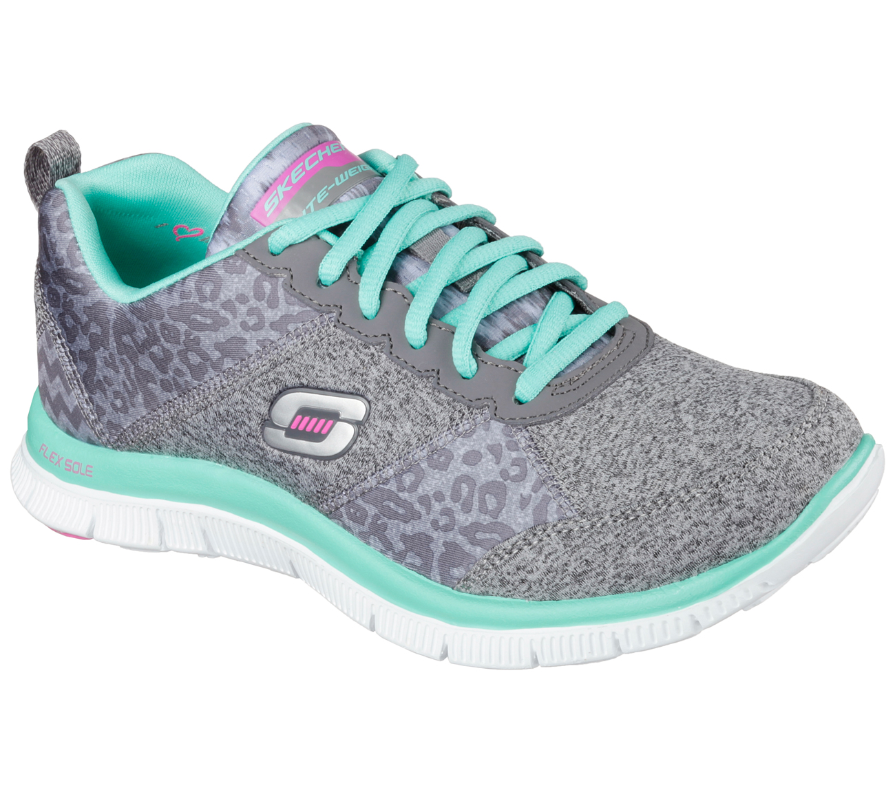appeal flex tribeca skechers animal shoes knit urban heathered athletic