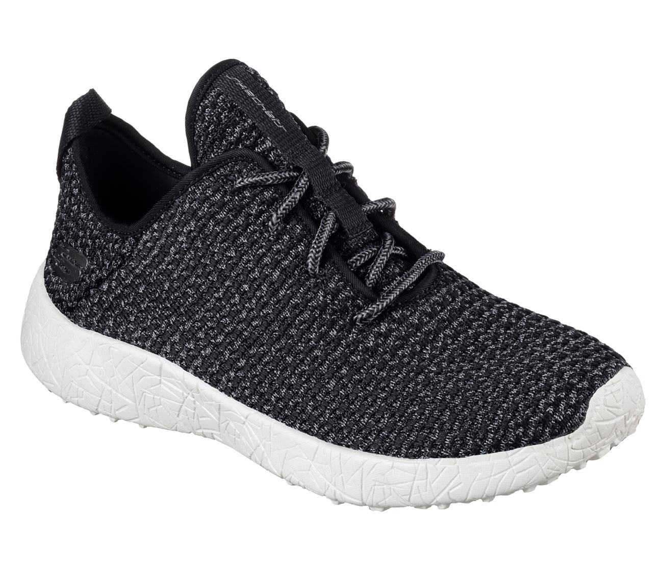 Bkw Black Burst Skechers Shoe New Men Memory Foam
