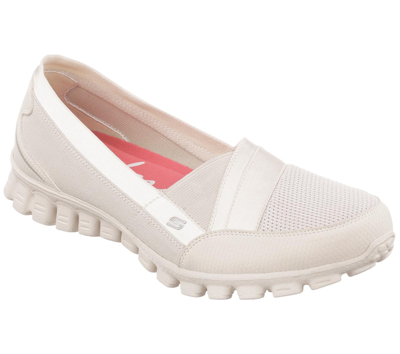Skechers Beige Net Slip On Shoes
