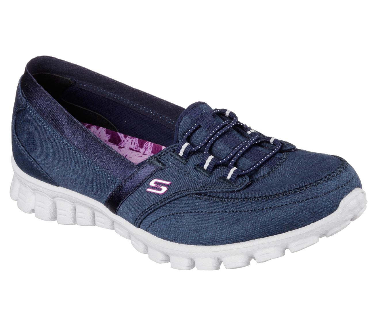 Skechers Ez Flex Canvas Slip On Shoes Ringer
