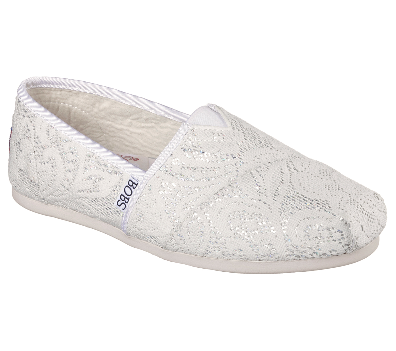 White Lace Bobs Shoes