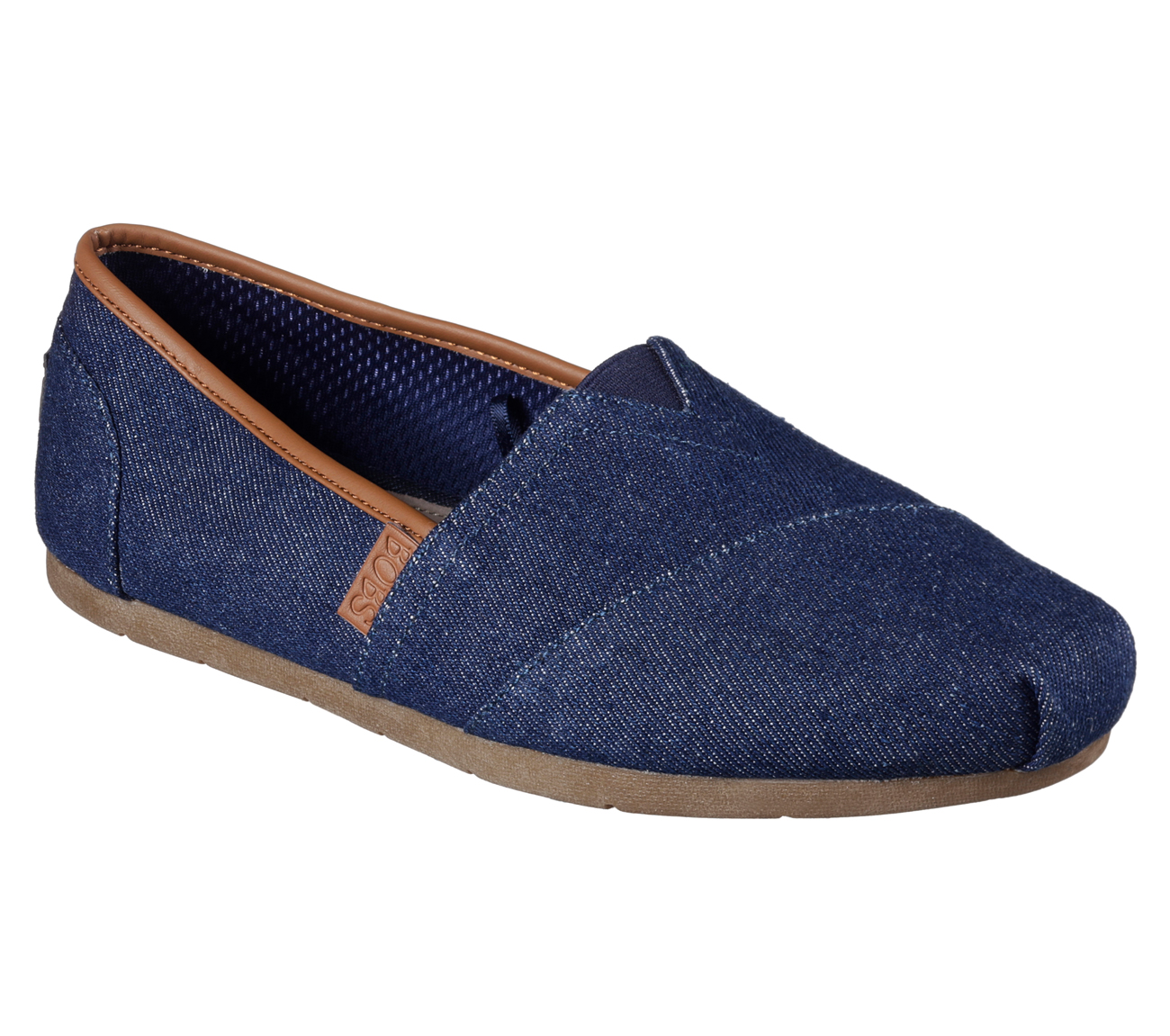 Denim Slip On Shoes Men Wide