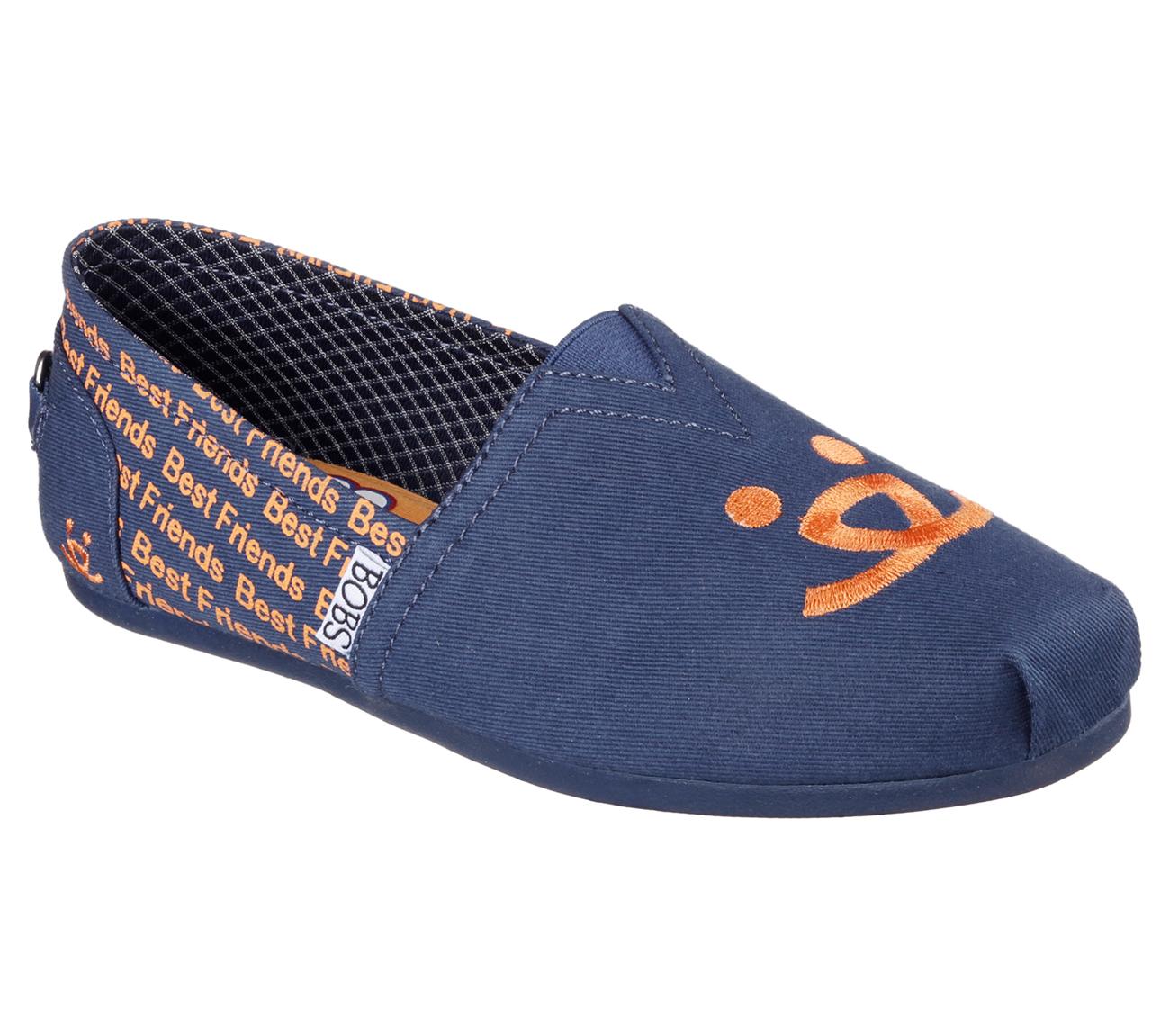 skechers bobs plush friends shoes dogs them bob navy shoe animal memory slip comfort foam soft nvy sold