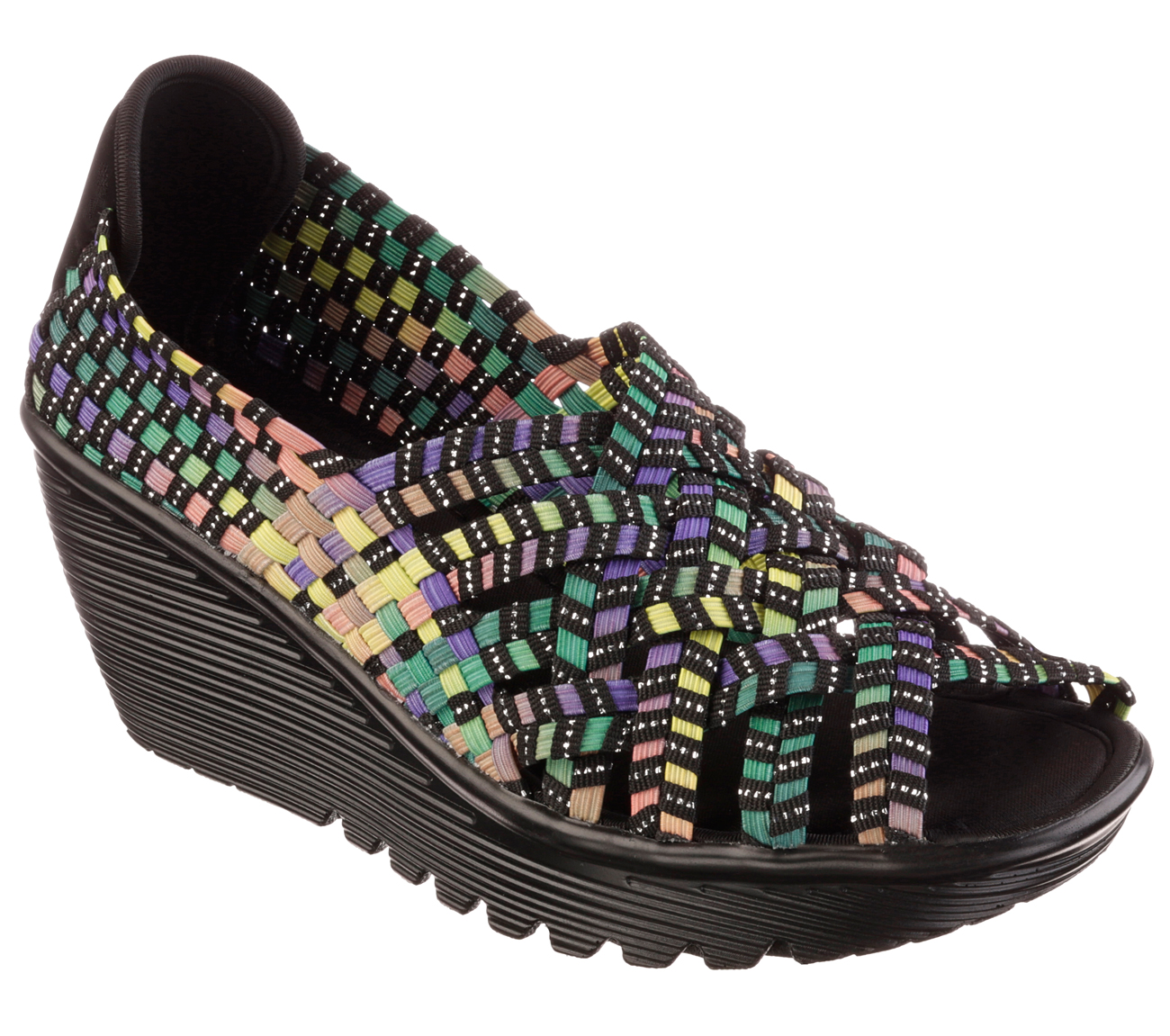 Skechers Multi Color Woven Shoes For Women
