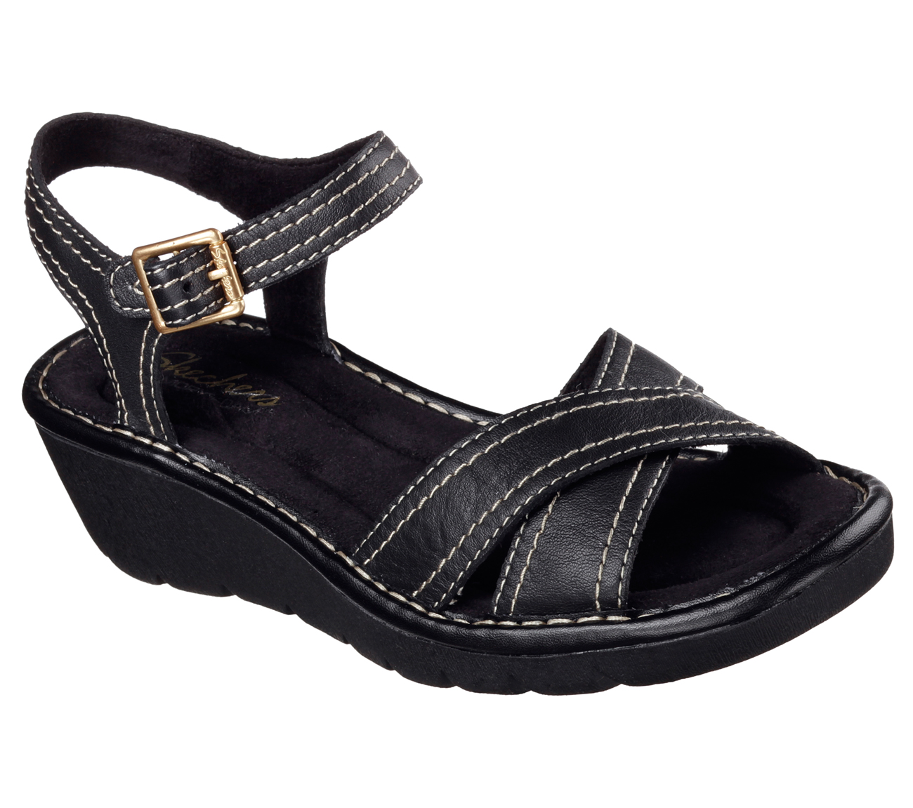 New Skechers Key Holes Wedge Sandal For Women  Gymshoeswomen