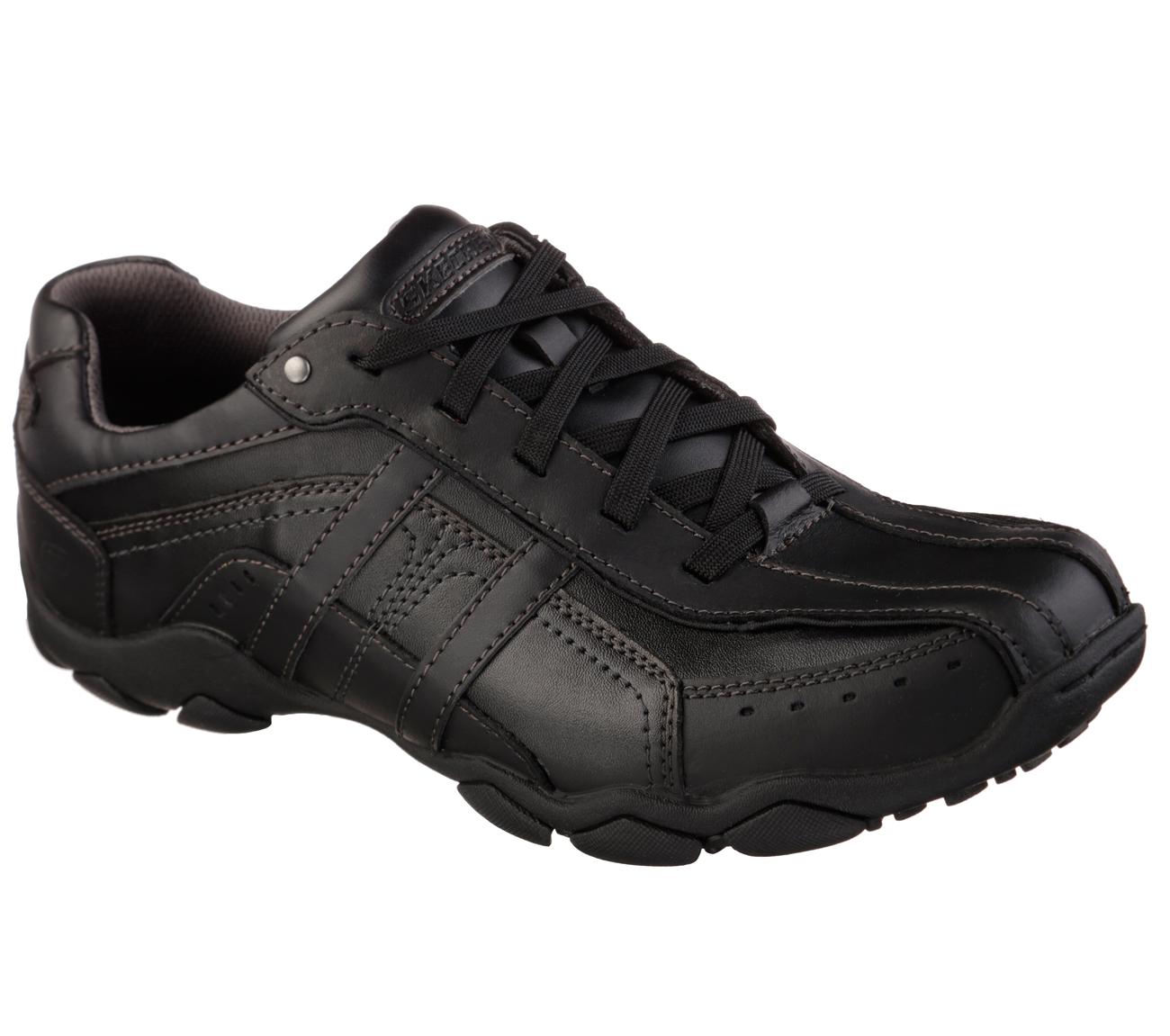Black Sketcher Work Shoes