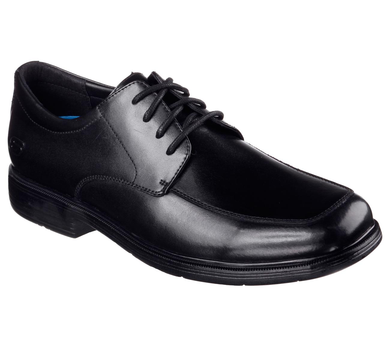 Skechers Black Leather Oxford Dress Shoe