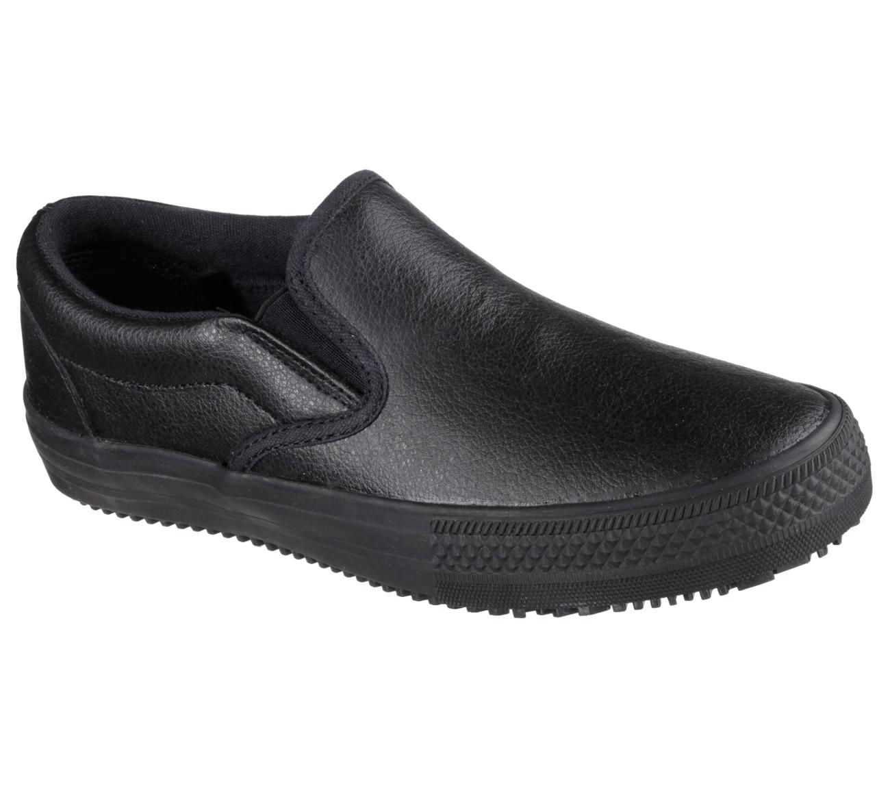 Sandlot Plain Black Shoes