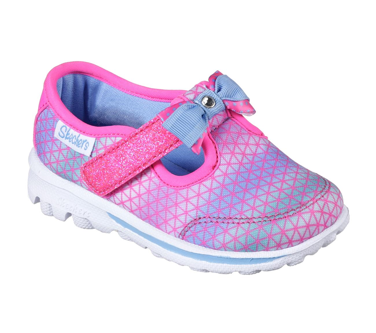 Skechers Gowalk  Girls Slip On Shoes Pink Multi